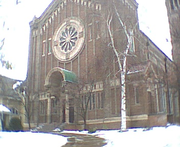 ダウンタウンにある教会